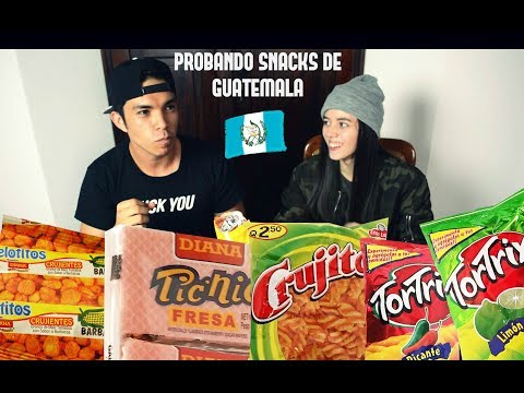 PROBANDO snacks y dulces de GUATEMALA 🇬🇹 TORTRIX, JALAPEÑOS, ETC