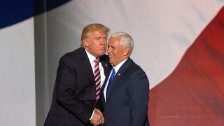 Watch Awkward Moment Donald Trump Tried To Kiss Mike Pence At RNC