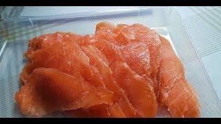 Быстрый способ мариновать красную рыбку