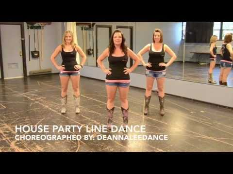 House Party Line Dance Teach & Demo