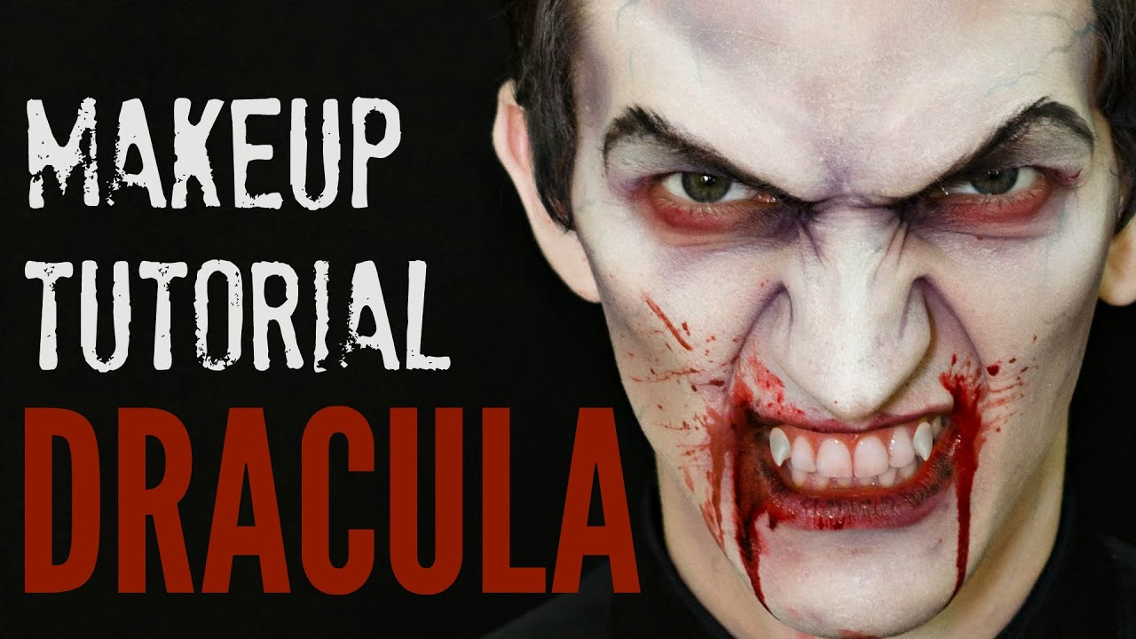 dracula scary vampire halloween makeup tutorial youtube. Black Bedroom Furniture Sets. Home Design Ideas