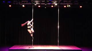 2018 US Pole Dance Championship Novice Level 1 Sexy Division - Ginger Snap