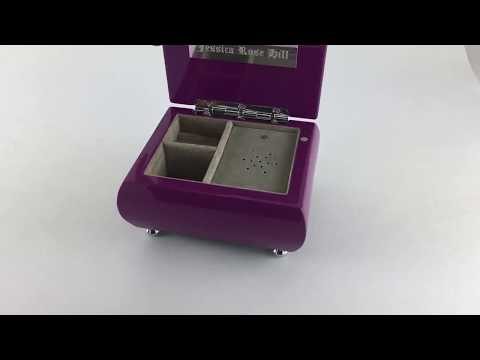 Vibrant Hi-Gloss Lavender (Purple) Keepsake Jewelry Musical Box