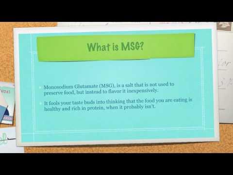 What is Monosodium Glutamate