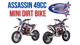 ASSASSIN 49CC 2 STROKE AUTO KIDS POCKET MINI DIRT BIKE OFF ROAD PEE WEE