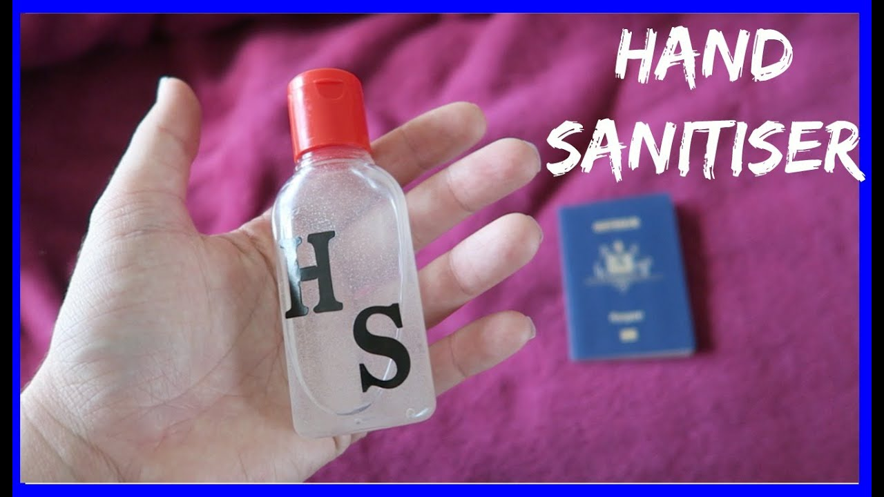 Hand Sanitizer Diy 2 Ingredients How To Travel Essentials Diy