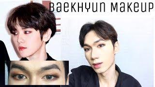 EXO-Baekhyun Inspired Makup Look (Burgundy EyeShadow) - Ian HMUA