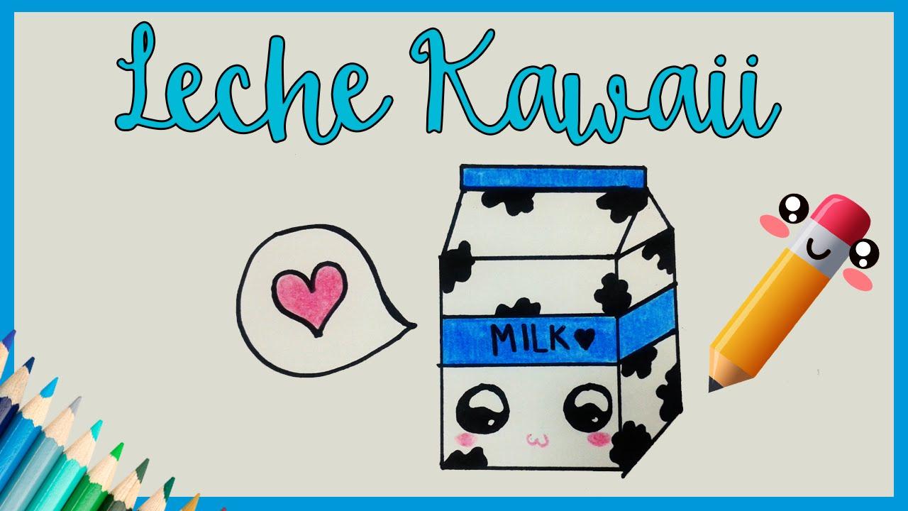 Dibujar Caja De Leche Kawaii