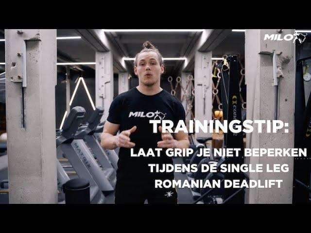 Trainingstip: Laat grip je niet beperken tijdens de single leg Romanian Deadlift