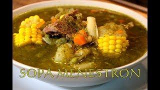 SOPA MENESTRON al estilo Peruano