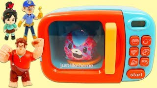 Disney Wreck It Ralph & Friends Use Magic Toy Microwave Playset to Make Surprise Toys!