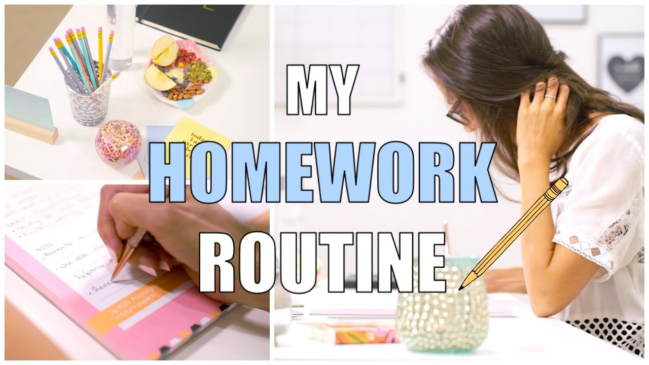 My homework routine