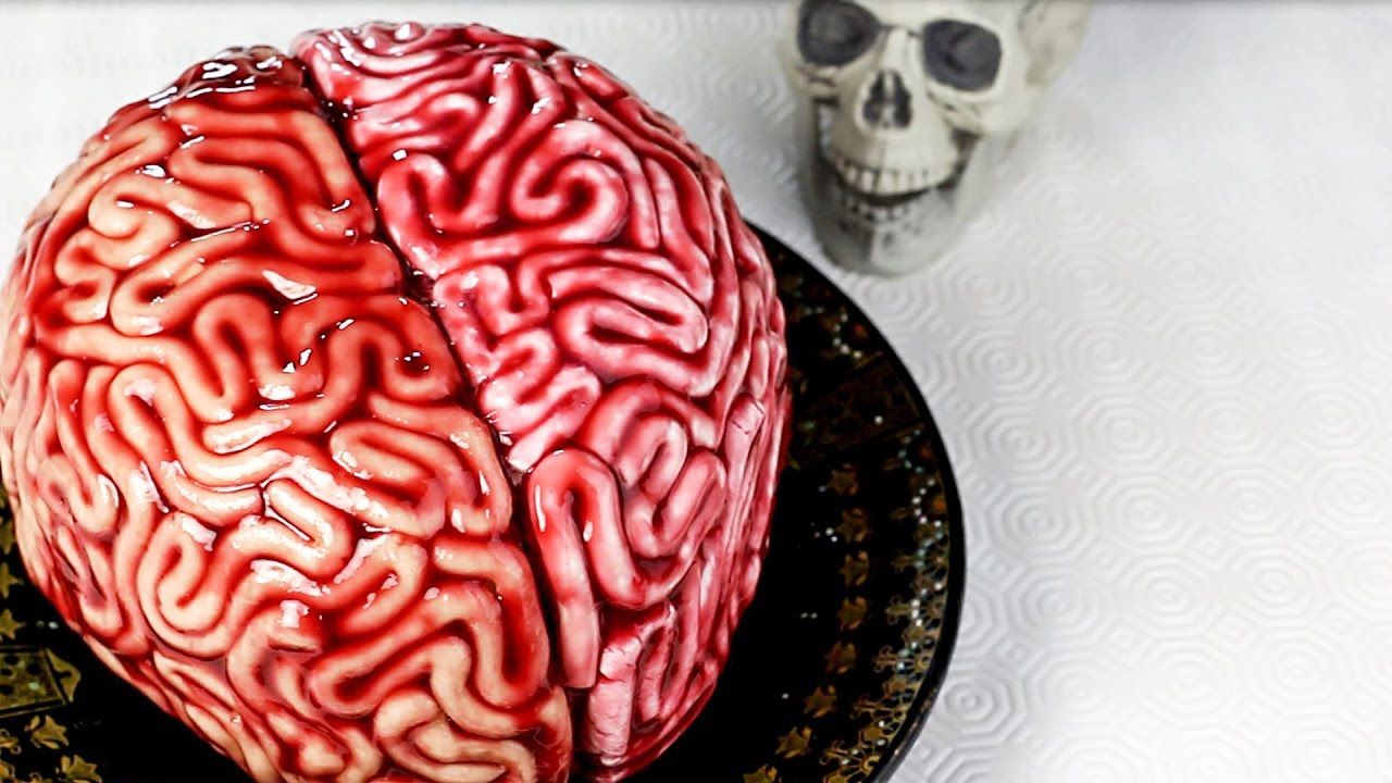 How To Make A Brain Cake Without Fondant