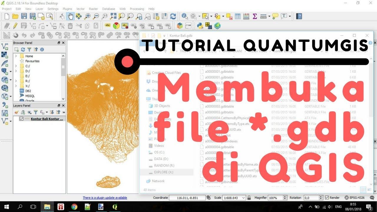 Tutorial QGIS: Cara Membuka File ArcGIS (ESRI) Geodatabase (* gdb) di QGIS