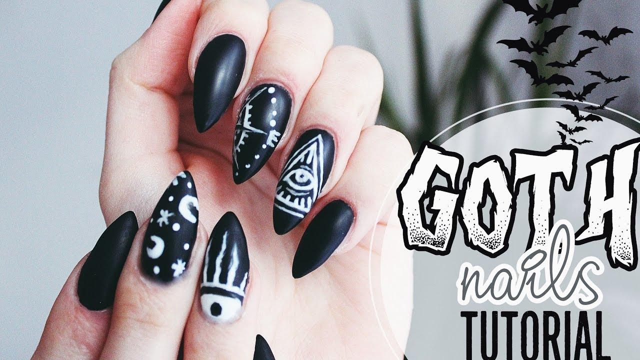 Goth Occult Nails Tutorial