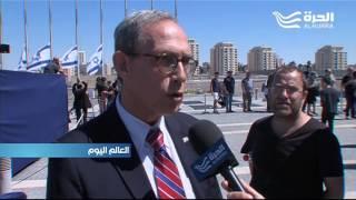 الإسرائيليون يلقون النظرة الأخيرة على نعش شمعون بيريس