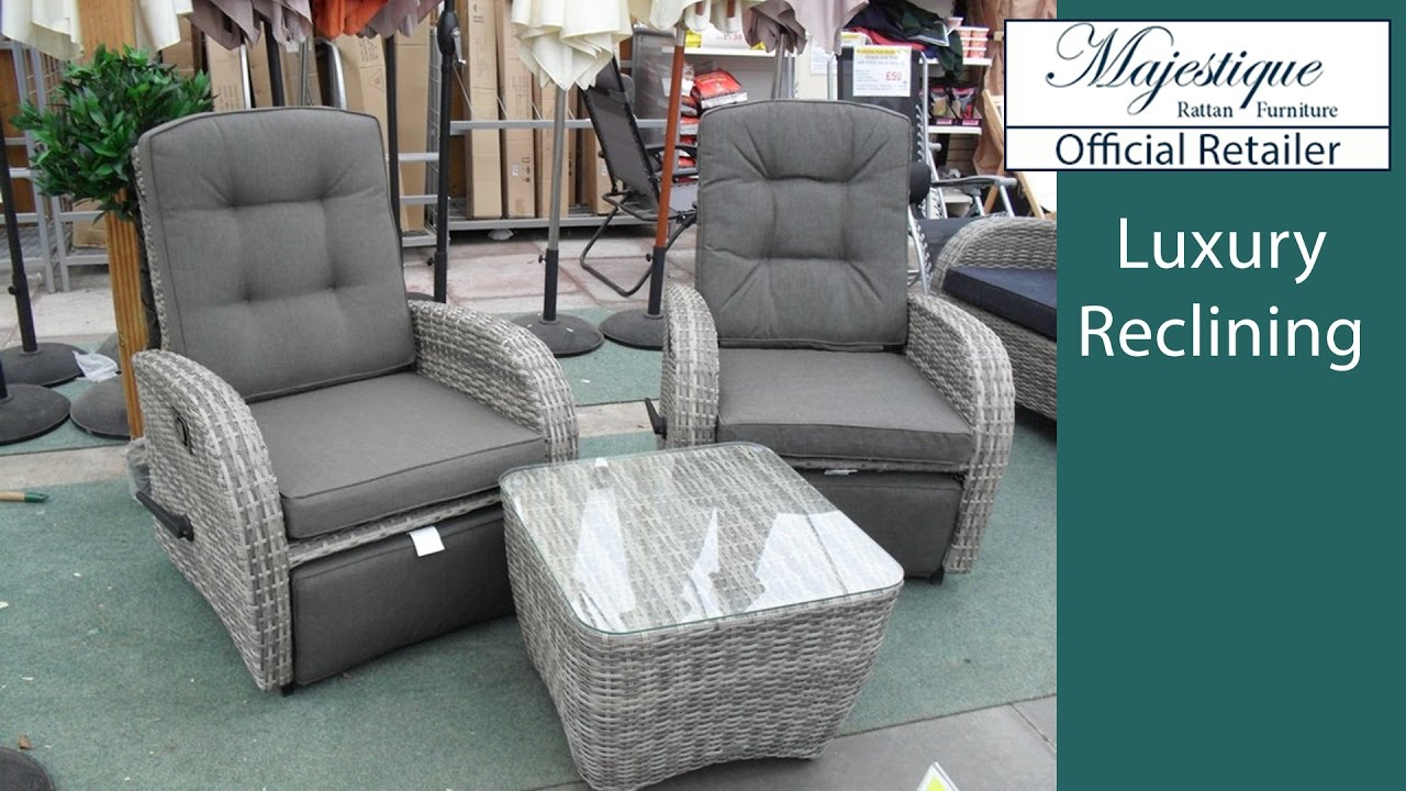 Reclining Garden Furniture Reclining Rattan Chairs Sofas