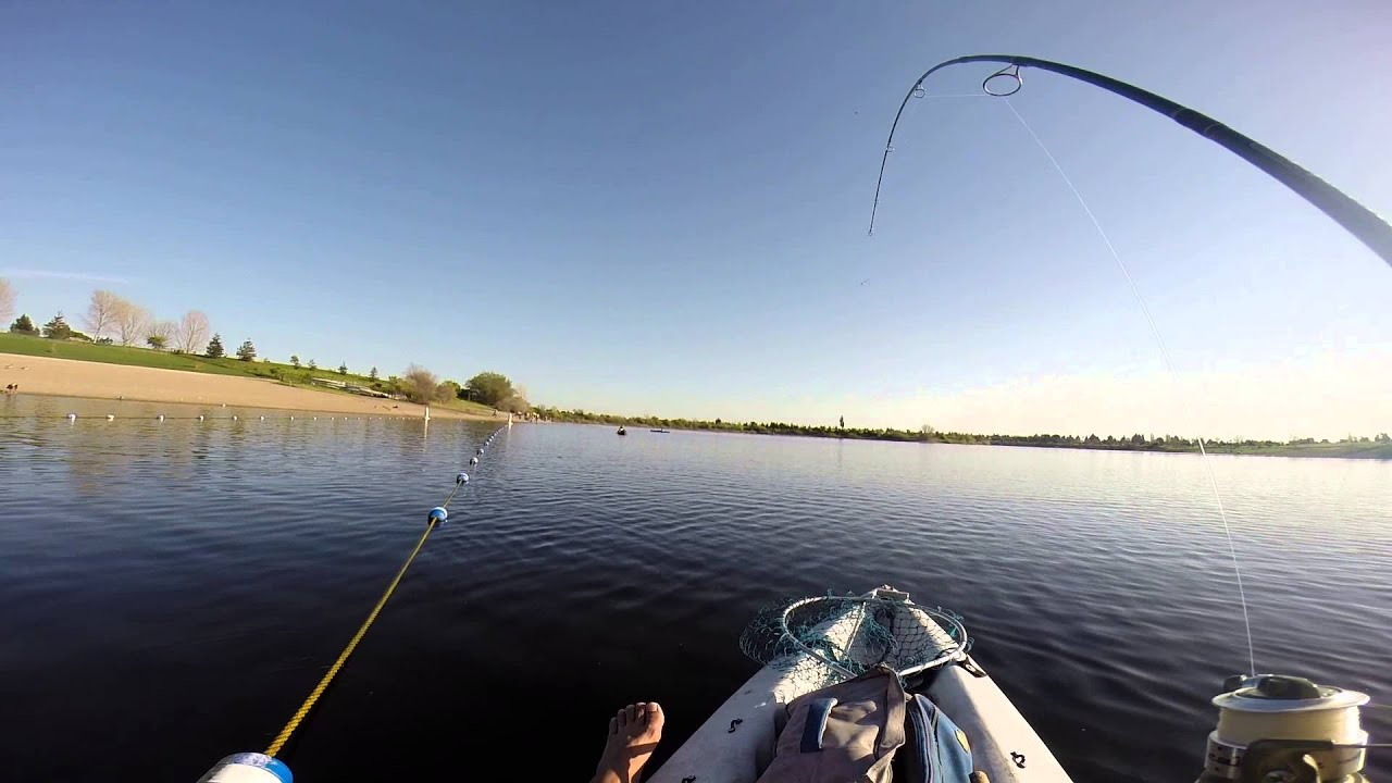 Kayak fishing for trout quarry lakes on 3 7 2015 youtube for Quarry lakes fishing