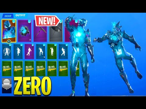BUYING THE NEW FORTNITE CHAPTER 2 ZERO POINT SKIN!! (BACK BLING COMBOS SKIN SHOWCASE)