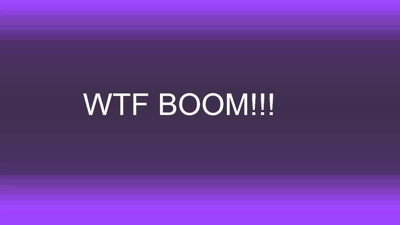 WTF BOOM!!! Sound Effect