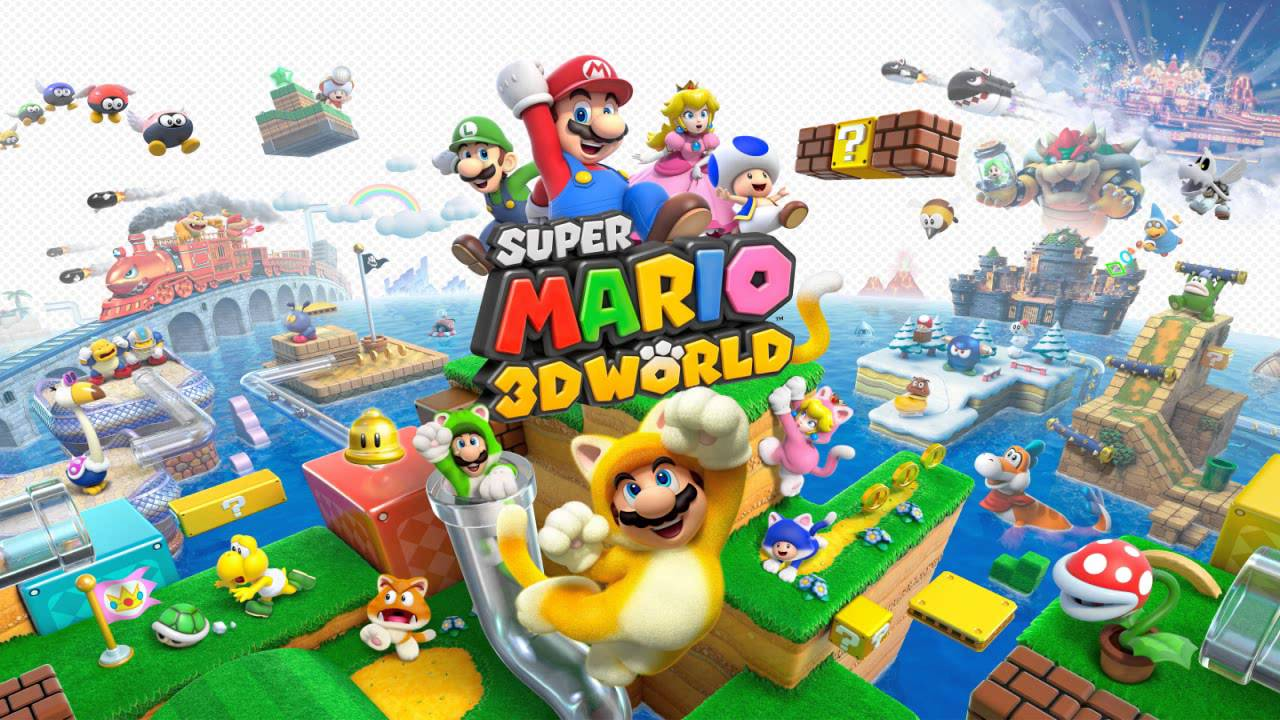 Super Mario 3D World Coloring Tiles Mini Bonus Stage Theme YouTube