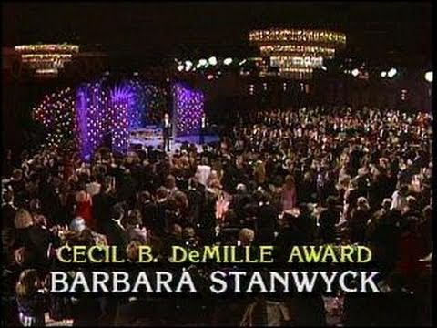 Barbara Stanwyck Receives the Cecil B. DeMille Award - Golden Globes 1986