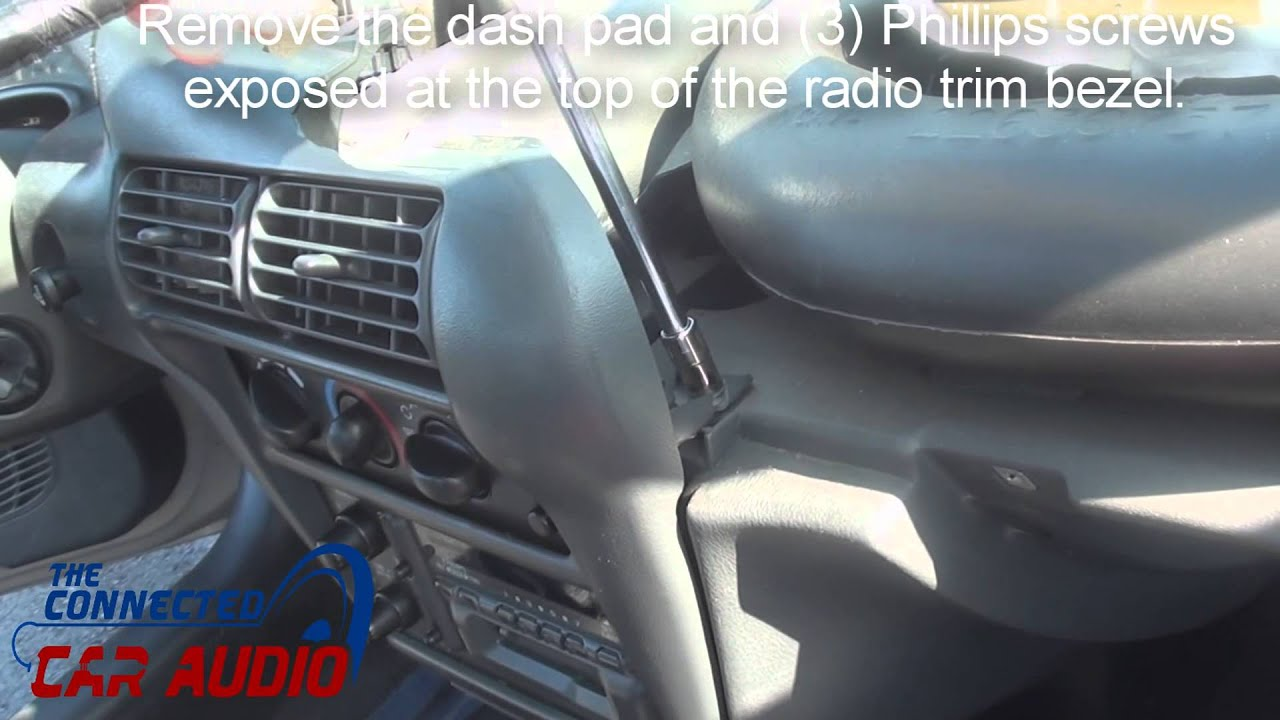 maxresdefault remove factory stereo chevy cavalier 1995 1999 youtube 2004 chevy cavalier radio wiring harness at mifinder.co