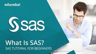 What Is SAS | SAS Tutorial For Beginners | SAS Programming | SAS Training | Edureka