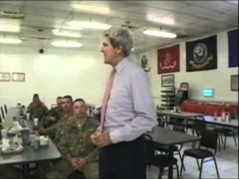 Sen. John Kerry Visits Camp Phoenix