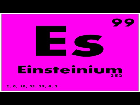 Study Guide 99 Einsteinium Periodic Table Of Elements Youtube