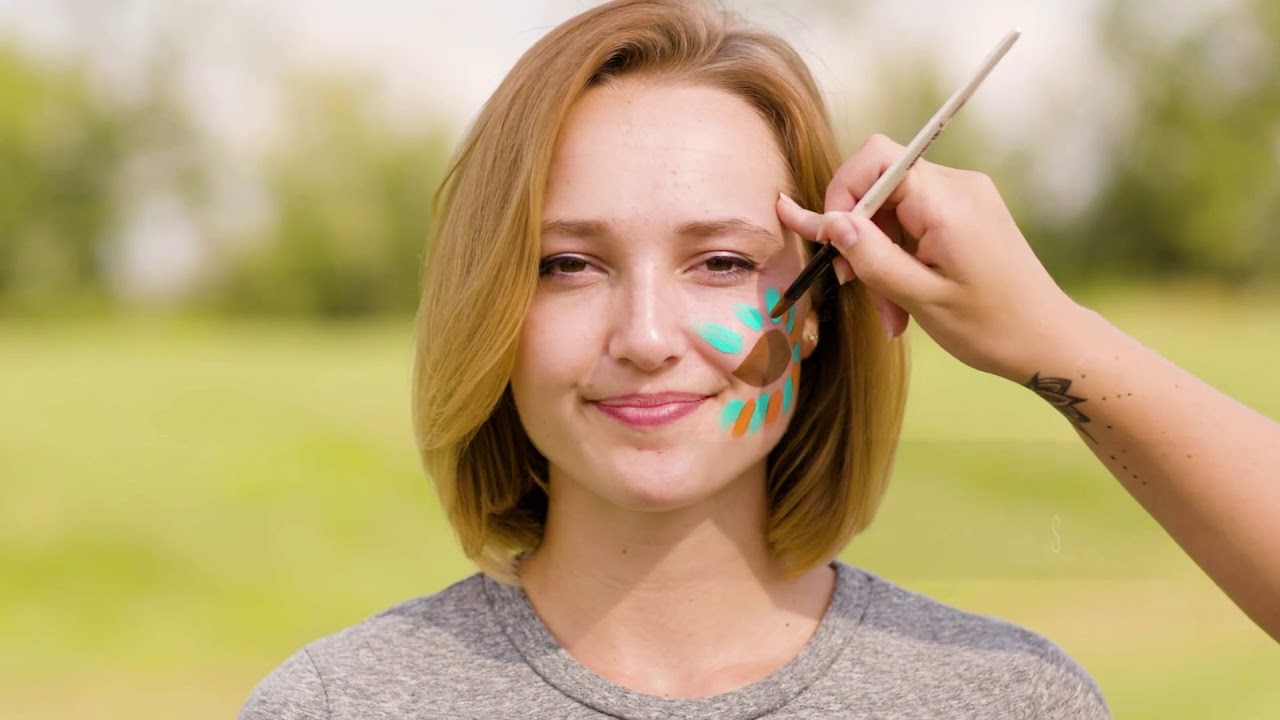 Game Day Spirit Easy Football Face Painting Design