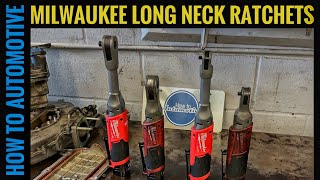 First Look at the New Milwaukee Tool M12 FUEL Extended Reach 3/8 and 1/4 Ratchets (Long Neck)