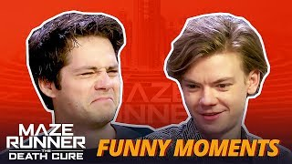 Dylan O'Brien & Thomas Sangster Messing Around -  Maze Runner The Death Cure Cast Funny Moments