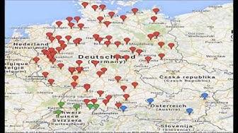 Übersichtskarte der Montagsdemo in Deutschland, Österreich und der Schweiz Mahnwache