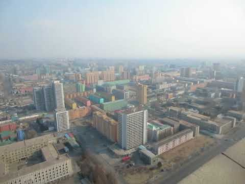 360 degree view of Pyongyang, North Korea from high atop the Juche Tower