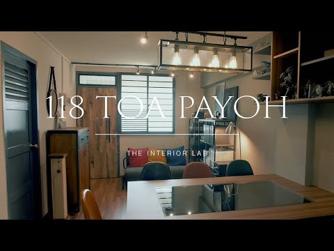 Home Tour of a Modern Industrial HDB flat | Interior Designer Singapore | The Interior Lab