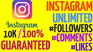 get unlimited instagram followers free & fast with proof  $new 2018
