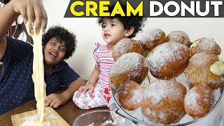 Cream Filled Donut - Easy Recipe