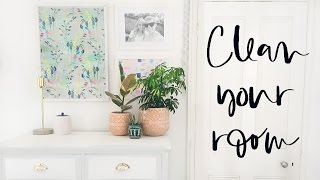 Clean with Me| How to Deep Clean Your Bedroom 2017