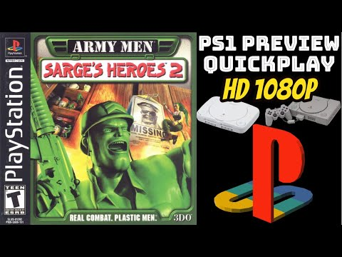Army Men: Sarge's Heroes 2 (PS1) GAMEPLAY/PREVIEW/QUICKPLAY NO COMMENTARY HD 1080p