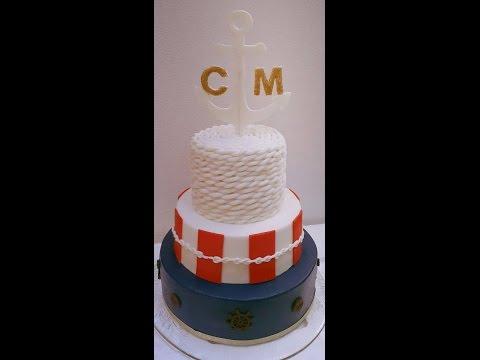 Maritime Hochzeitstorte/Italienische Buttercreme/Verwendung Silikonmould