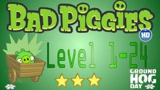 Bad Piggies Level 1-24 Episode I / Bad Piggies Nivel 1-24 Episodio I