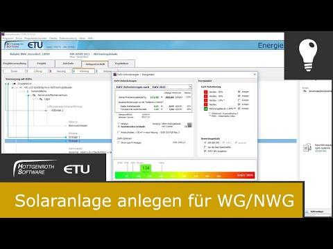 Solaranlage anlegen für WG/NWG DIN 18599