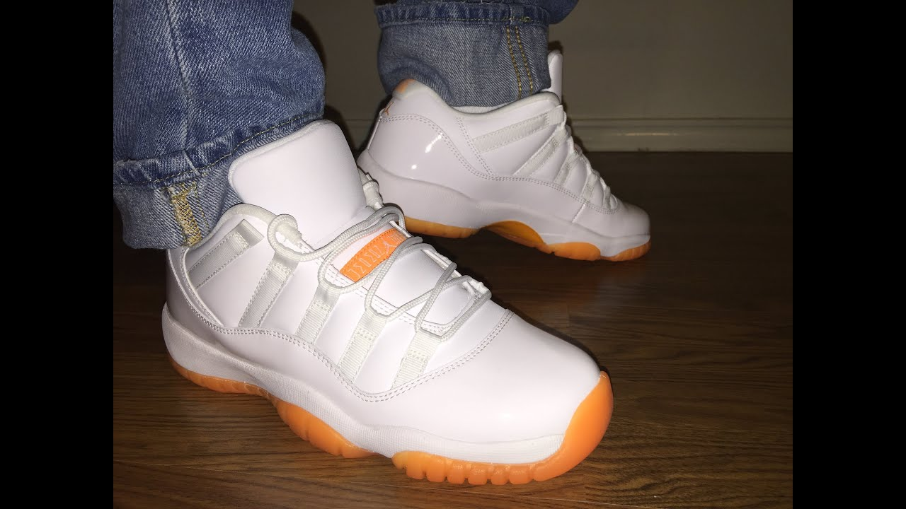 08b10827861997 Jordan Retro 11 Low Citrus unboxing and on feet review - YouTube