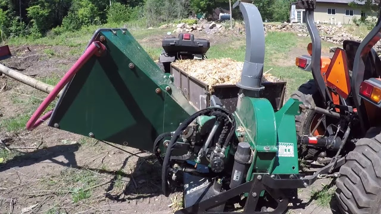 #299 Woodland Mills WC68 PTO Wood Chipper. Oregon CS300 Chainsaw. outdoor channel.