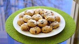 Красивое и сладкое украшение для новогоднего стола. Снежные новогодние шарики-печенье.
