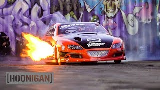 Download Menacing Mazda RX8 Drag Car Breathes Fire //DT244 Mp3 and Videos