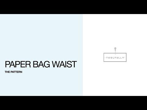 Paper bag waist.