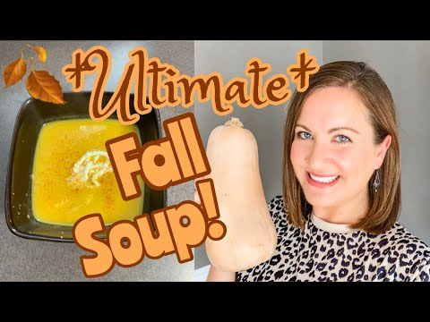 CREAMY BUTTERNUT SQUASH SOUP RECIPE // COZY FALL SOUP // Foodie Friday At Contemporary Mama