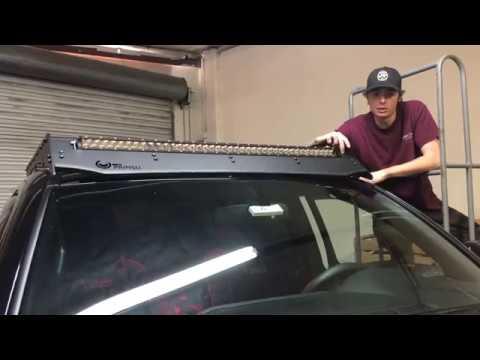 Installing a LED Bar On Prinsu Roof Rack